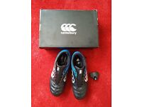 Canterbury Stampede 2.0 SG Mens Rugby Boots Blue/Black UK Size 9