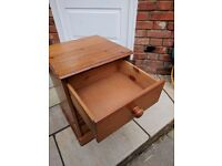 Bed side cabinet, table, chest of 3 drawers