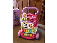 VTEch First Steps Baby Walker.Brand new in box.Pink. Suit 6 - 30months