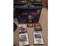 Boxed Sega Megadrive and games