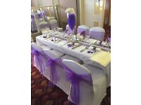 Chair covers 50 p sashes 50 p set up free weddings communions birthdays ect stunning
