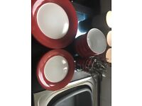 Wilko red kitchen set