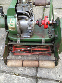 "Vintage Atco 12"" self propelled petrol mower, from 1964, with origianl receipt."