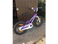 Specialized bike 16 inch purple