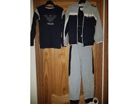Boys Armani tracksuit and long sleeve top both age 7