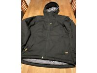 Fjallraven SKOGSÖ PADDED JACKET, Black, Mens Size M Medium. Like new