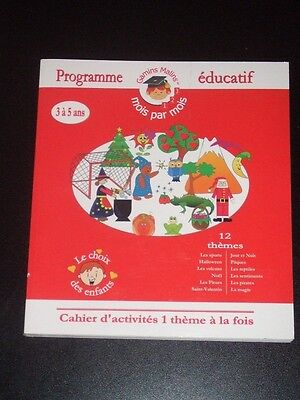 PROGRAMME EDUCATIF Cahier D'activities D'enfant Serie 3 a 5 ans NEW French