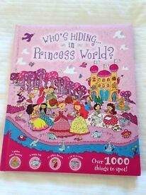 Whose hiding in princess world girls activity book, new and unused.