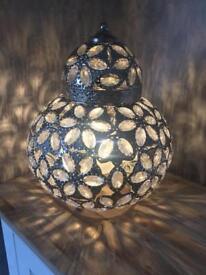 NEXT Moroccan style lantern table lamp