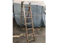 Folding Wooden Decorating Ladder Extending 6ft
