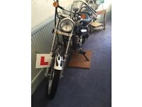 50cc chopper black with silver flames for sale!
