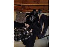 Bundle of punk style clothes