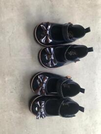 Ted baker shoes twin girls 3-6 months never worn
