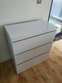 Gloss White Drawers