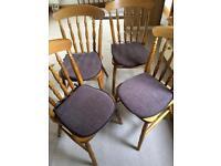 Pine dinning chairs