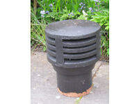Gas Chimney Cowls - pair clay cowls