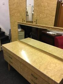 Double wardrobe and matching dressing table can deliver