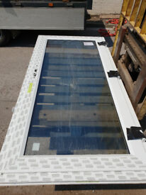 New White UPVC Back Front Door 100cm W x 212cm H
