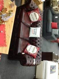 Stunning Chesterfield Suite (3 seater Sofa and Club Chair) at BHF Glasgow