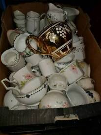 Vintage tea sets all sorts around 50 to 60 cafes or function.