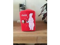 Coca Cola mini fridge. As new. Bought for £45, sell for £20