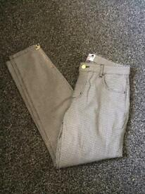 Dolores promesas checked trousers w28