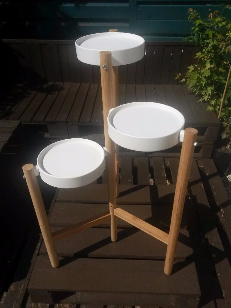 ikea plant stand ikea satsumas plant stand bamboo and white in 11799