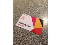 £20 ticket master gift card