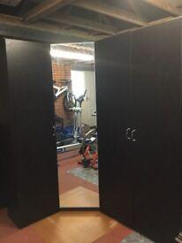 Ikea Pax Corner Wardrobe with Mirrored Door