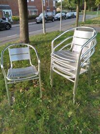 Bistro Chairs, Aluminium