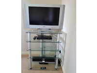 """BUSH 27"""" Widescreen LCD TV with remote control, desktop base and floor stand."""