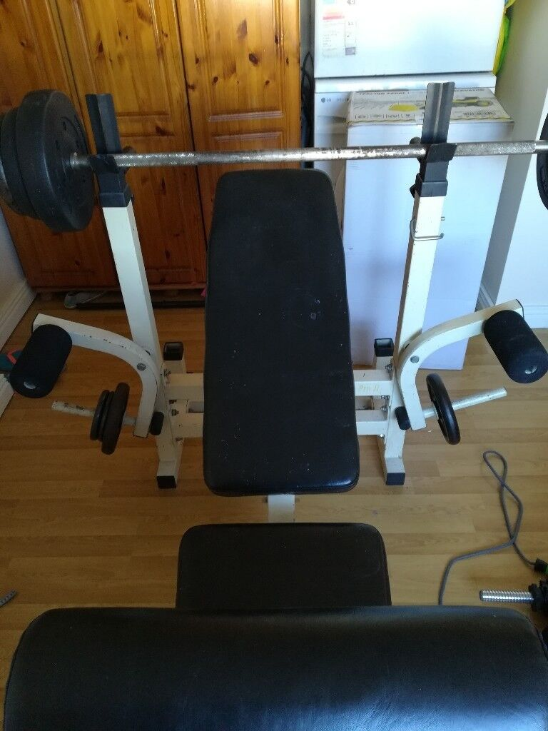 Reclining Weights bench for salein Newry, County Down - Weights bench for sale as it never bes used, seat can lift up or down for different angles when bench pressing etc, also has the 2 side bars for arm curls etc, looking 50pound ono, weights dont come with bench