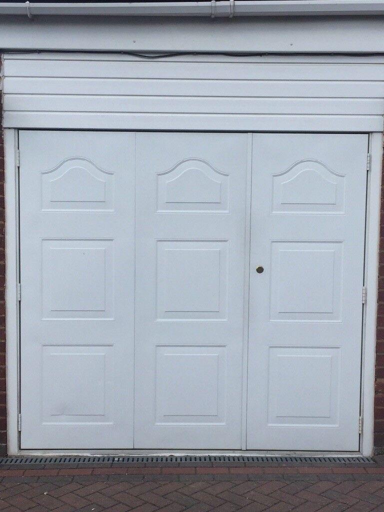 White Garage Door Side Hinged Front Opening 13 And 23 Doors In
