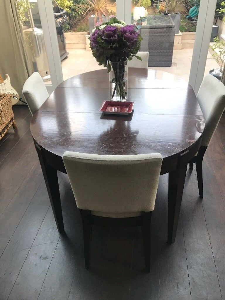 John Lewis Extendable Dining Table and 4 Chairs Art Deco style