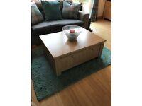 Next Light Oak Coffee Table - Excellent Condition