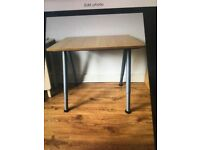 Small wood effect desk
