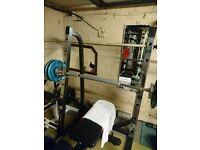 Marcy Sr50 squat rack, bench rack