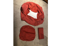 Red Ikea Tullsta chair cover