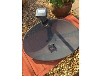 Satellite aerial dish with fittings No longer required.