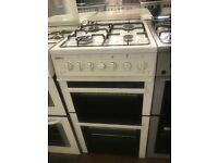 50CM WHITE BEKO GAS COOKER GRILL/OVEN