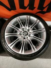 "BMW E46 MV2 genuine 18"" staggered alloys"