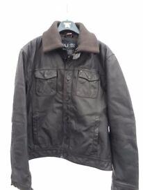 Mens Armani leayher jacket