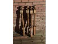 4x Posts / Newels for garden decking