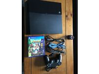 PS4 With Controller & Crash Bandicoot