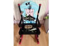 Stunning wooden pirate rocking chair. Perfect condition £15