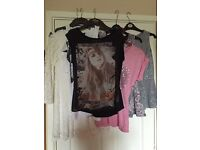 Ladies tops size 8, high street all exc condition