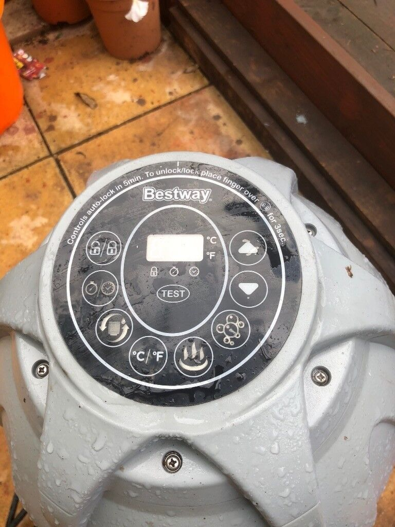 Lay Z Lazy Spa Hot Tub Jacuzzi Bestway Pump Heater Miami Monaco