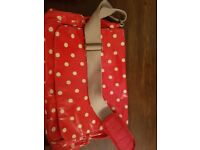 Cath kidston red spotty baby changing bag