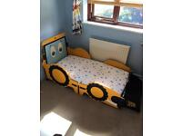 Boys JCB Toddler bed