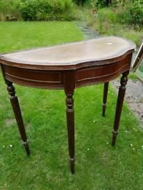 Telephone table semi circular antique shabby chic